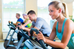 Spinning im Fitness-Studio