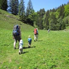 Familien-Wanderung zum Hochgrat mit Übernachtung auf dem Staufner Haus