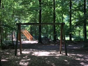 Waldspielplatz Esslingen Doppelschaukel