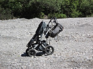 Outdoortauglicher Kinderwagen