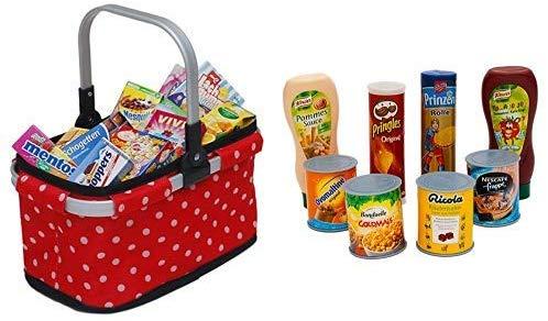 Tanner Spielzeug-Küchenzubehör mit Einkaufskorb