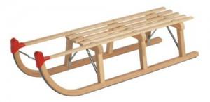 Gloco Davoser Rodel aus Buchenholz mit Lattensitz im Holz-Schlitten Vergleich