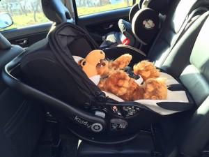 Kiddy evo-lunafix Liege-Position im Auto