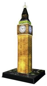 Ravensburger Big Ben bei Nacht 3D Puzzle-Bauwerk