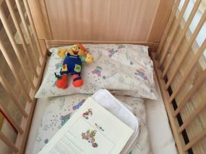 Babybett im Kinderhotel Oberjoch