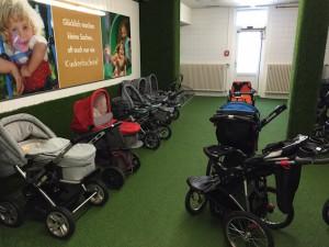Kinderwagen und Buggys im Kinderhotel Oberjoch