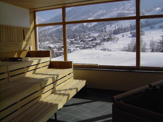 Panoramasauna im Kinderhotel Oberjoch Winter