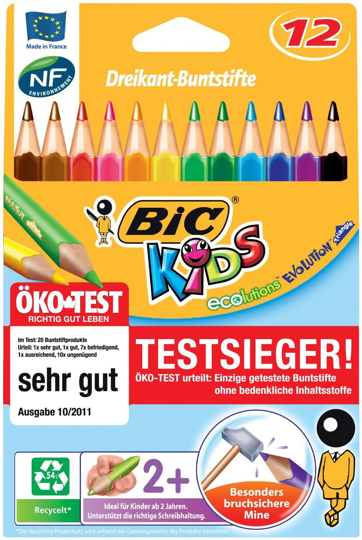 12 verschiedene Farben 12 dicke Jumbo Dreikant-Buntstifte
