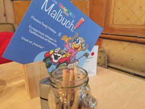 Malbuch im Kinderhotel Alpenrose