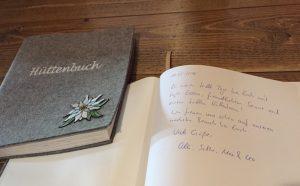 Hüttenbuch Wannenkopfhütte