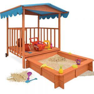 Deuba Sandkasten mit Spielveranda im Sandkasten Vergleich