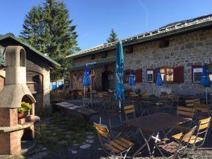 Terrasse der Albert-Link-Hütte