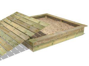 Wickey King Kong Sandkasten mit Deckel im Sandkasten Vergleich