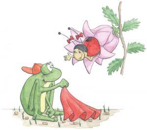 Frosch Mahlzeit von Simone Kettendorf