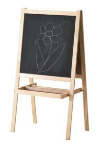 Maltafel Whiteboard 93x56,5cm Magnetische Kindertafel höhenverstellbar Bambus