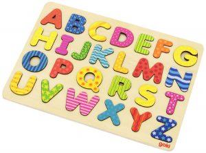 Goki 57672 Alphabetpuzzle im Holzpuzzle Vergleich