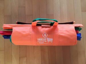 Trolley Bags im Praxis-Test zusammengerollt