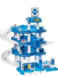 Wader 10220 Parkgarage Aral im Spielzeug-Parkhaus Vergleich