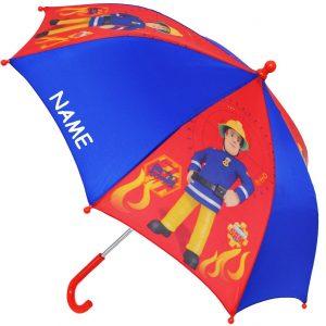 Feuerwehrmann Sam Schirm im Kinder-Regenschirm Vergleich