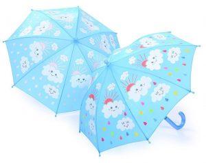 Thinkpink Regenschirm Wolken und Regentropfen im Kinder-Regenschirm Vergleich