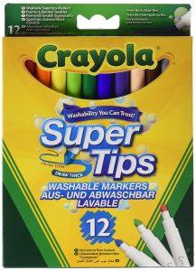 Crayola 03.7509DM 12 Supertips im Filzstifte Vergleich