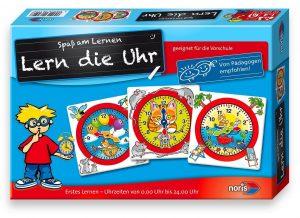 Die Uhrzeit lernen - Noris Spiele 606076152 Lern die Uhr, Kinderspiel