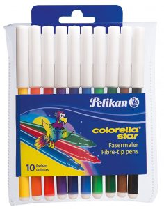 Pelikan 904821 Colorella Star fein 10 Stück im Filzstifte Vergleich
