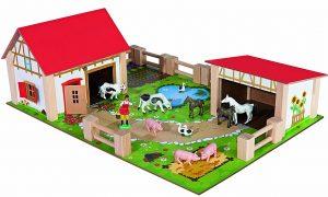 Eichhorn 100004308 Holz-Bauernhof im Spielzeug-Bauernhof Vergleich