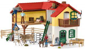 Schleich Bauernhaus mit Stall im Spielzeug-Bauernhof Vergleich
