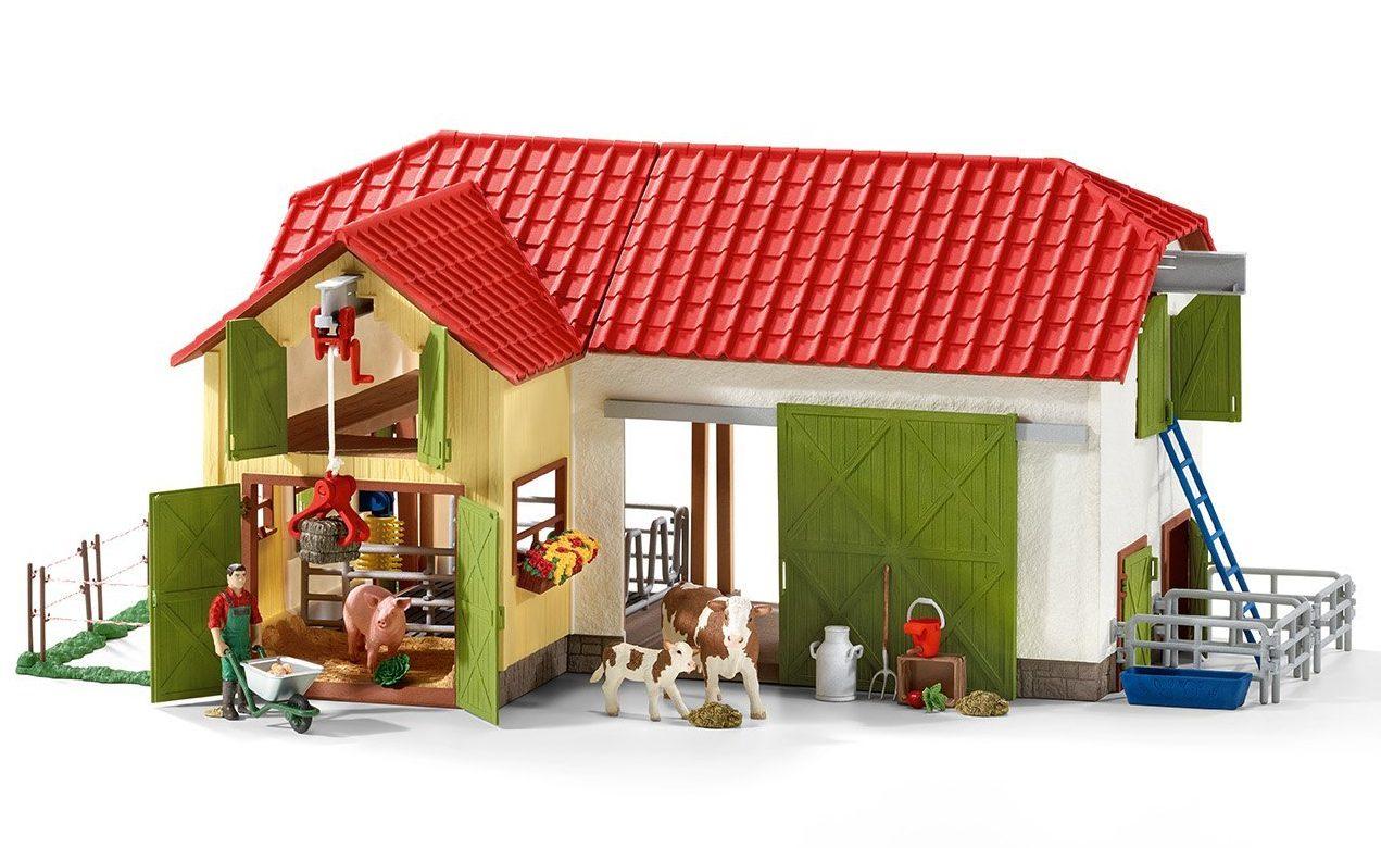 spielzeug bauernhof vergleich spielfarmen aus holz und kunststoff. Black Bedroom Furniture Sets. Home Design Ideas