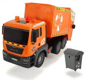 Dickie Toys 203809000 Air Pump Garbage Truck, Müllabfuhr mit Mülltonne im Spielzeug-Müllauto Vergleich