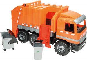 Lena 02059 Starke Riesen Müllwagen Actros 3-Achser im Spielzeug-Müllauto Vergleich