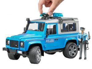 Bruder 02597 Land Rover Defender Station Wagon Polizeifahrzeug im Spielzeug-Polizeiauto Vergleich