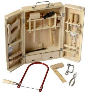 Beluga Spielwaren 20202 Holz Werkzeugkoffer im Laubsäge-Set Vergleich