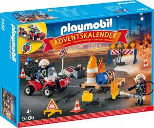 PLAYMOBIL Spielzeug-Adventskalender Feuerwehreinsatz auf der Baustelle
