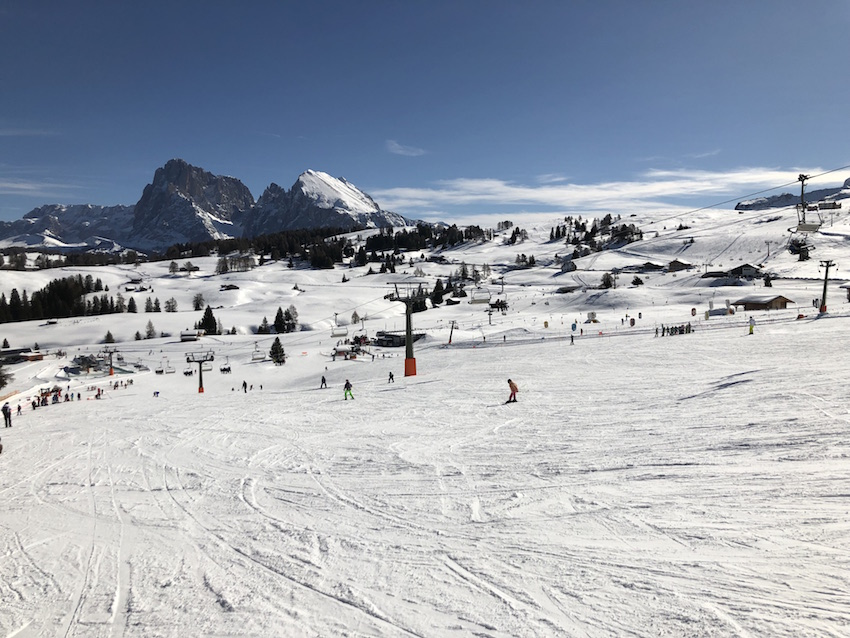 Skifahren auf der Seiser Alm_Anfängerpiste