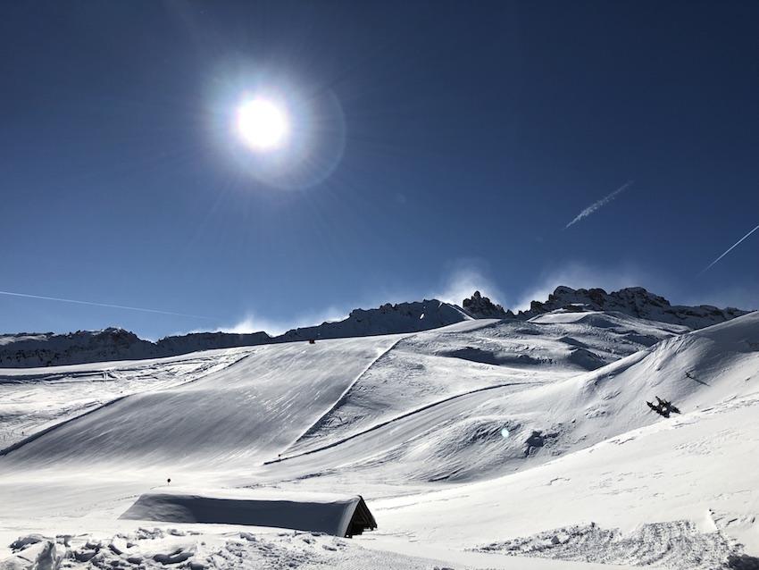 Skifahren auf der Seiser Alm_Piste vom Goldknopf