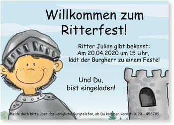 Einladungen für den Kindergeburtstag_Ritter