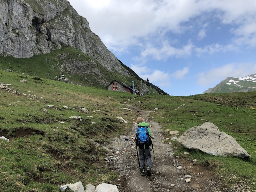 Aufstieg zur Ravensburger Hütte