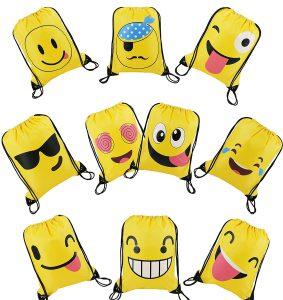 Emoji Turnbeutel als Kindergeburtstags-Mitbringsel