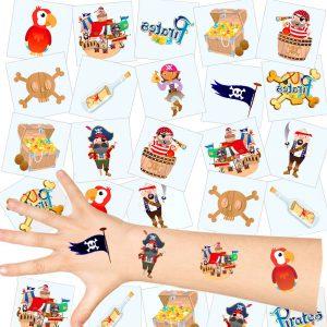 German Trendseller Piraten Kinder Tattoos-Set als Kindergeburtstags-Mitbringsel