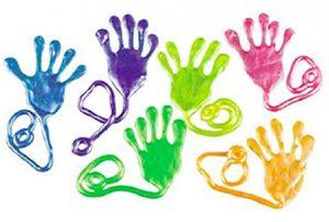 Kinder Klatsch-Glibberhand Slimy Mitbringsel für den Kindergeburtstag