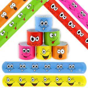 Smiley Schnapparmband als Mitbringsel für den Kindergeburtstag