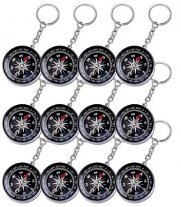 Kompass mit Schlüsselkette als Mitbringsel für den Kindergeburtstag