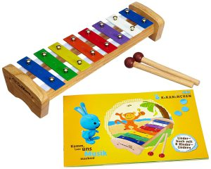 Eichhorn Kikaninchen Glockenspiel im Kinder-Xylophon Vergleich