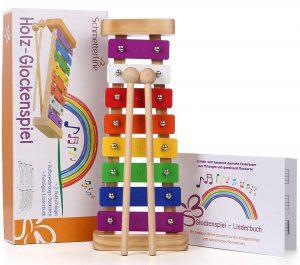 Schmetterline Harmonisches Glockenspiel im Kinder-Xylophon Vergleich