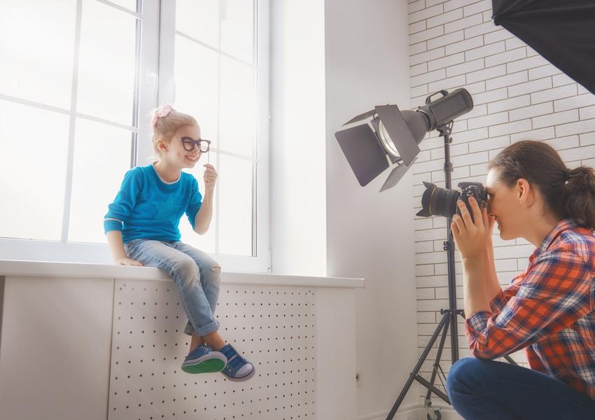 Foto-Shooting im Kindergarten