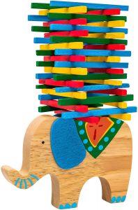 Stapelspiele für Kinder: Natureich Montessori Stapel-Elefant