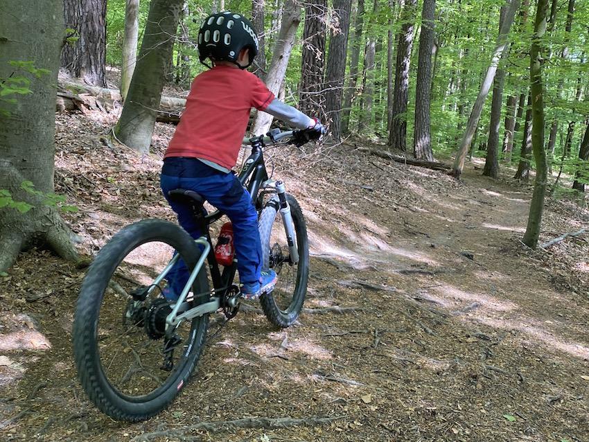 woom OFF AIR im Praxis-Test_Trail im Wald