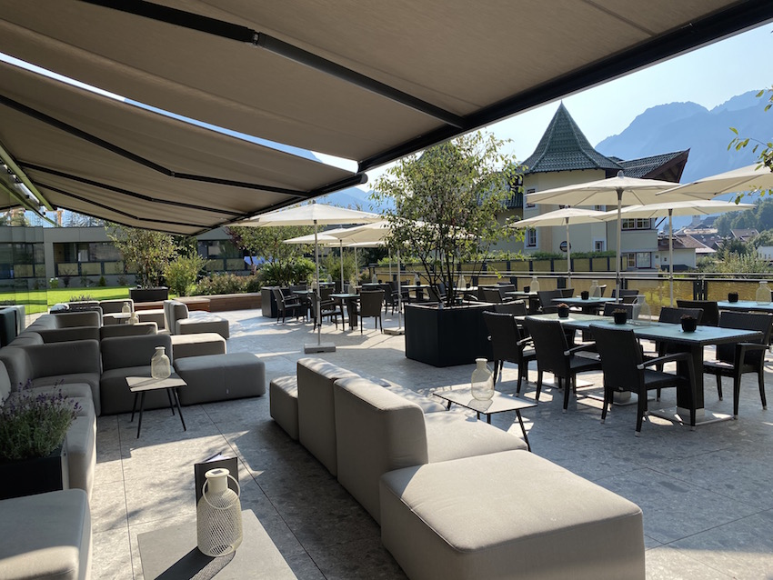 Terrasse vom Alpenrose Familux Resort